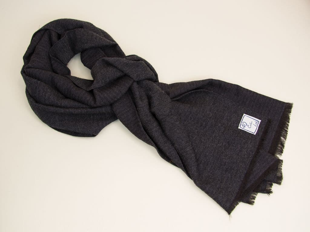 WASHED CASHMERE AND SILK SCARF