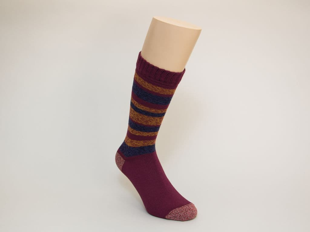 MULTI STRIPED MELANGE THICK ORGANIC COTTON SOCKS