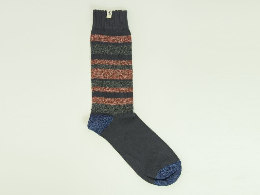 Multi Striped Thick Organic Cotton Socks