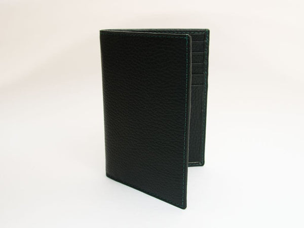 SOLID SLIM LEATHER BILLFOLD WALLET