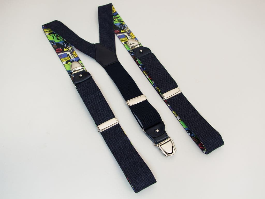 NAVY DONEGAL WOOL BRACES