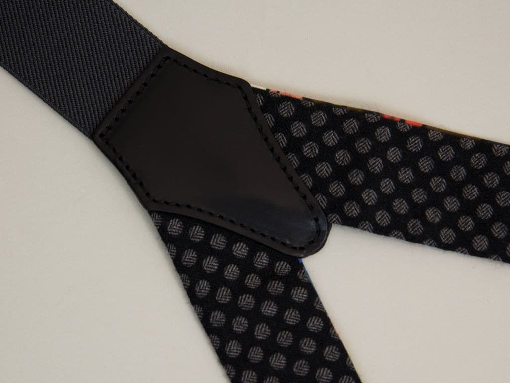 Polka Dot Wool Braces