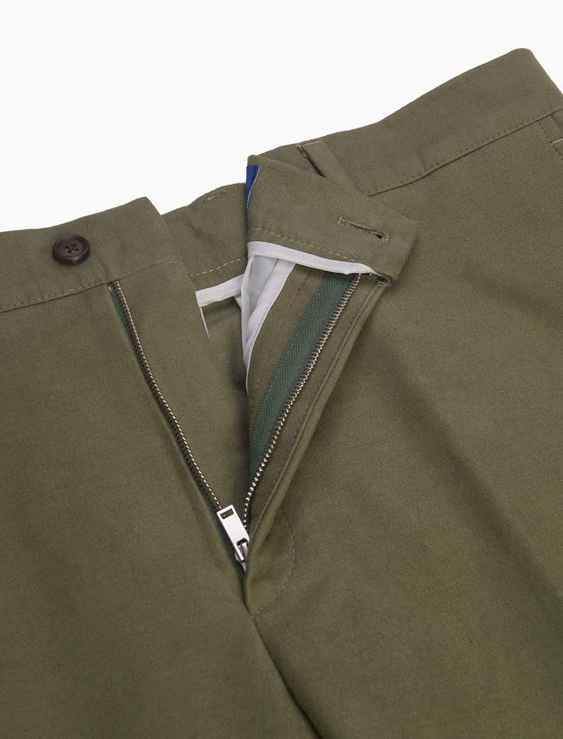 Light Green Cotton Comfort Trousers | 40 Colori