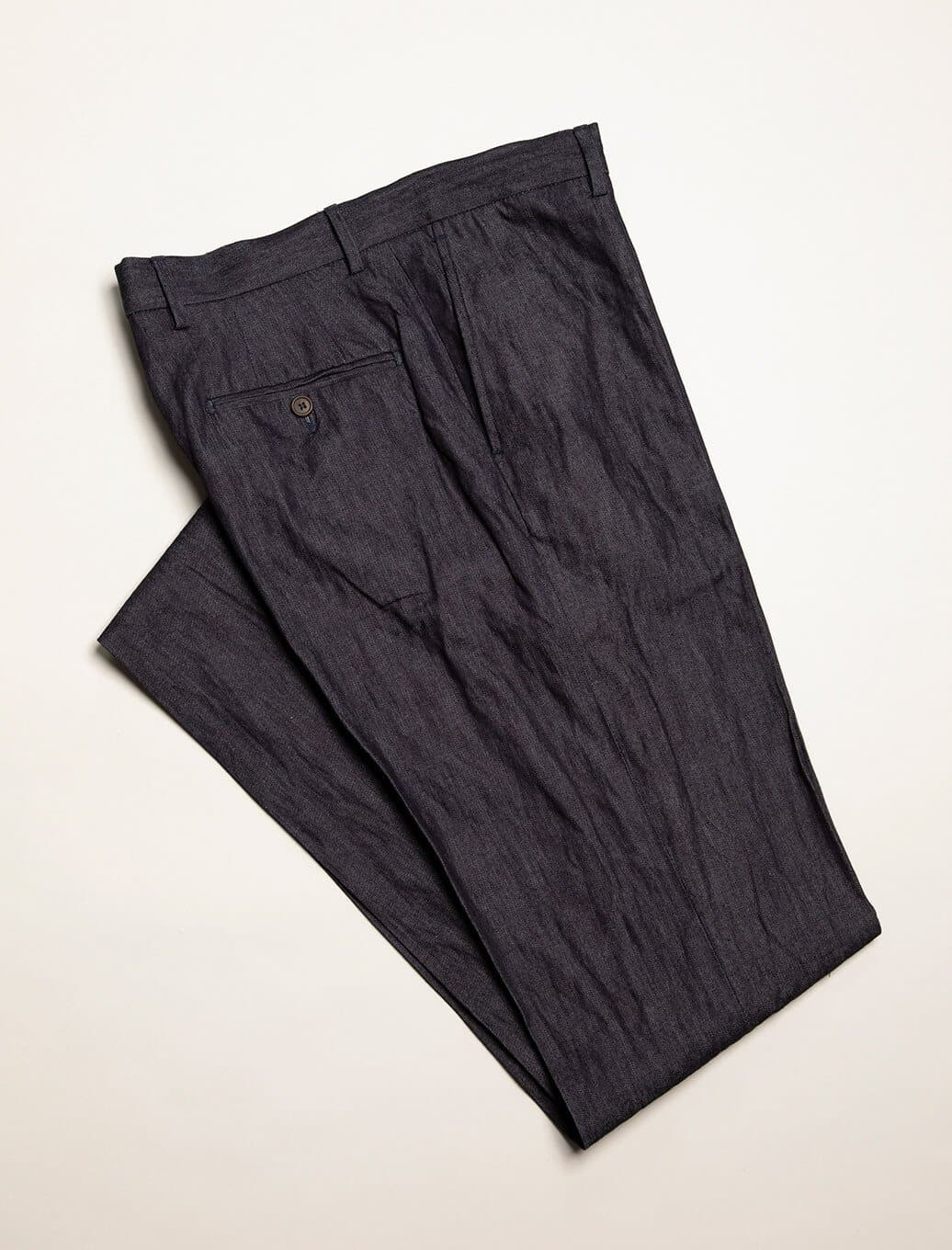 Denim Cotton, Silk & Cashmere Comfort Trousers