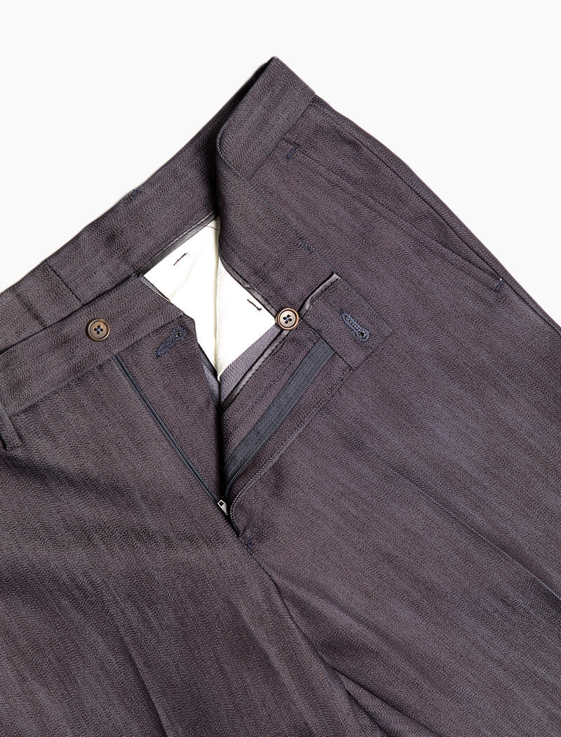 Dark Denim Cotton Comfort Trousers