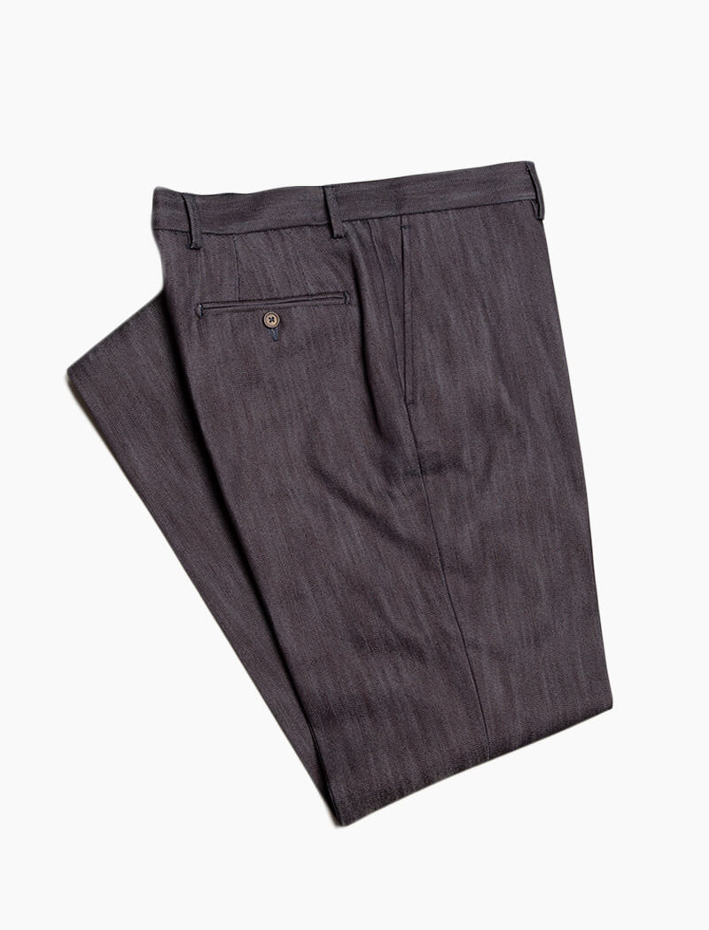 Dark Denim Cotton Comfort Trousers | 40 Colori