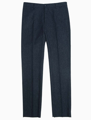 Navy Lambswool Comfort Trousers | 40 Colori