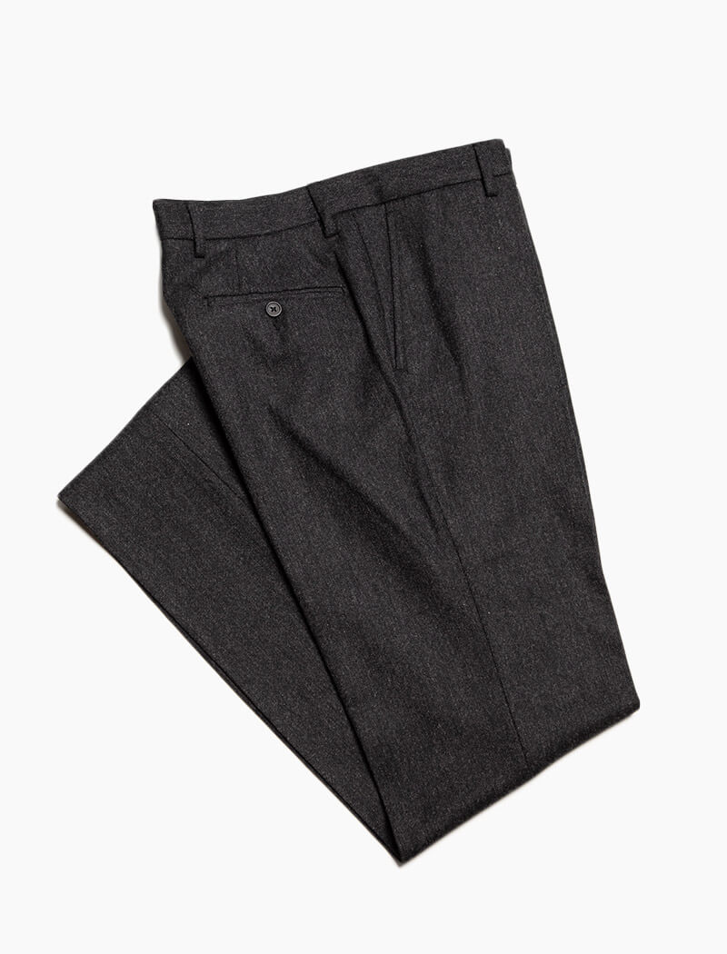 Charcoal Lambswool Comfort Trousers
