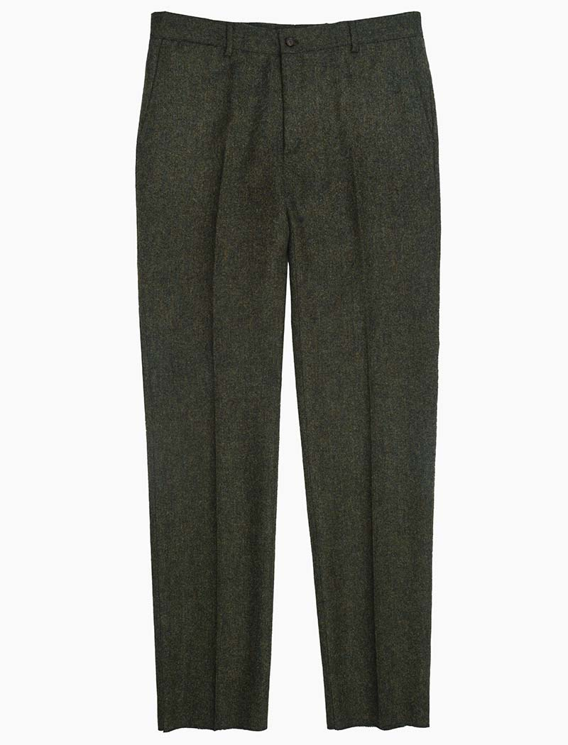 Green Shetland Wool Comfort Trousers | 40 Colori