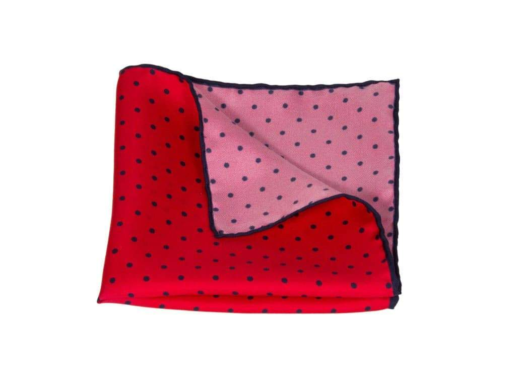 DOTTED PRINTED SILK POCKET SQUARE