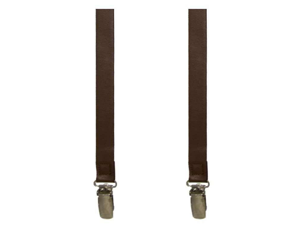 Solid Slim Leather Braces