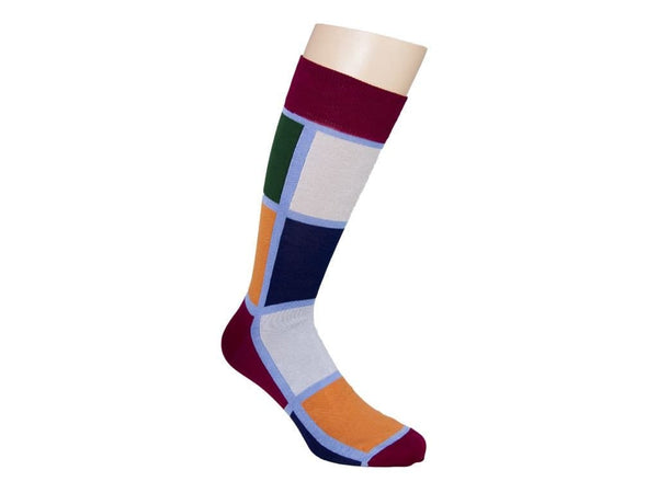 MULTI-TONAL SQUARE SOCKS