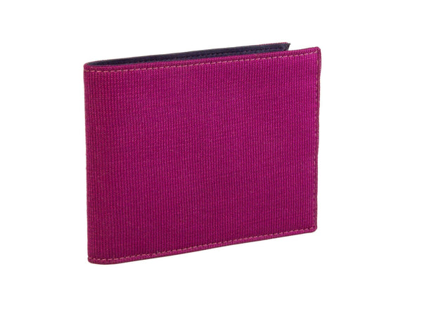 KNIT AND LEATHER BILLFOLD WALLET