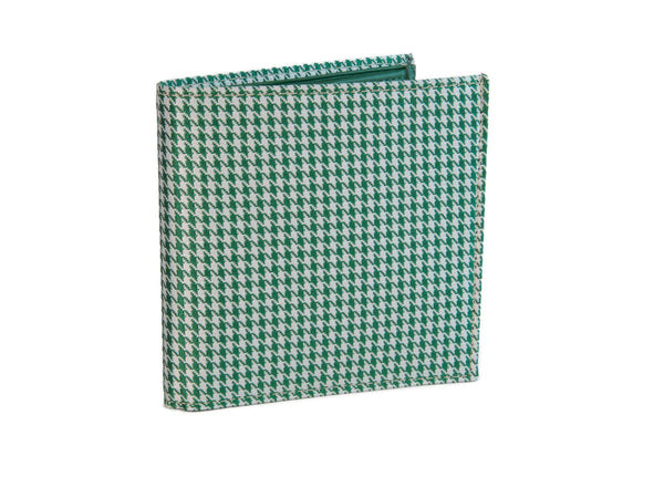 HOUNDSTOOTH BILLFOLD AND COIN WALLET