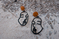 DOUBLE FACE EARRINGS