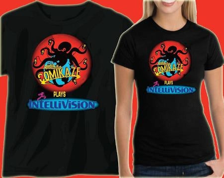"""Comikaze Plays Intellivision"" T-Shirt - Men's & Women's Sizes"