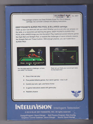 Deep Pockets - NIS Cartridge for Intellivision Console