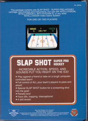 Slap Shot Super Pro Hockey Cartridge for Intellivision | New Box