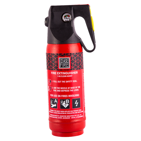 Ceasefire Clean Agent (HCFC123) Based Fire Extinguisher - 1 Kg (Offer Price)
