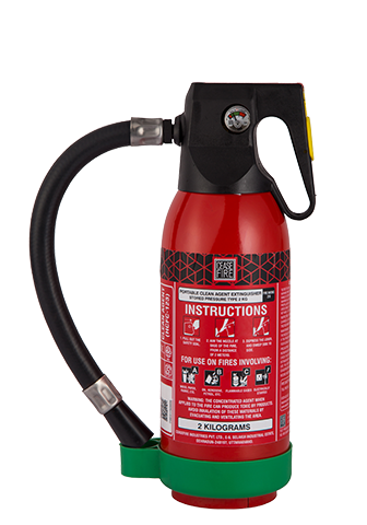 Ceasefire Clean Agent (HCFC123) Based Fire Extinguisher - 2 Kg