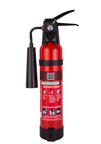 Ceasefire CO2 Based Fire Extinguisher (Squeeze Grip Type) - 2Kg