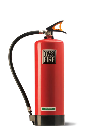 Ceasefire Greenmist (Watermist Based) Fire Extinguisher - 3ltrs