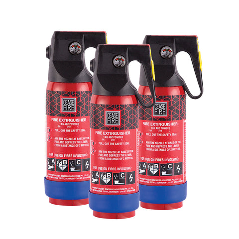 Value Offer Pack - 3 Units of 1Kg Extinguishers