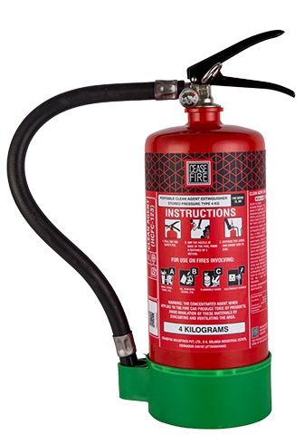 Ceasefire Clean Agent (HCFC123) Based Fire Extinguisher - 4Kg