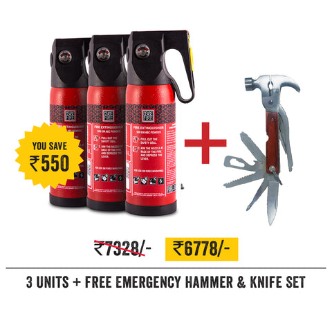 Value Offer Pack - 3 Units of 500 Gms Extinguishers