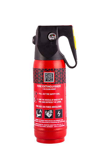 Ceasefire Clean Agent (HCFC123) Based Fire Extinguisher - 1 Kg