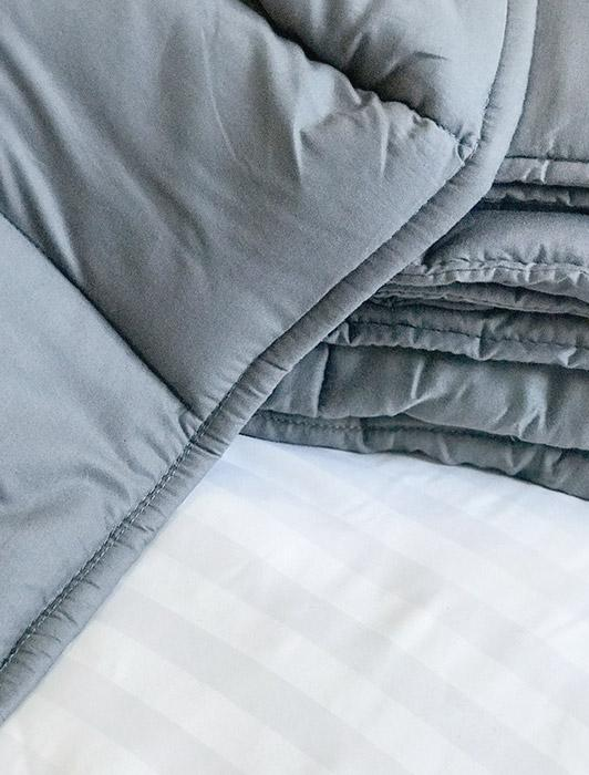 "Grey Weighted Blanket for Kids (10 lbs 41"" x 60"")"