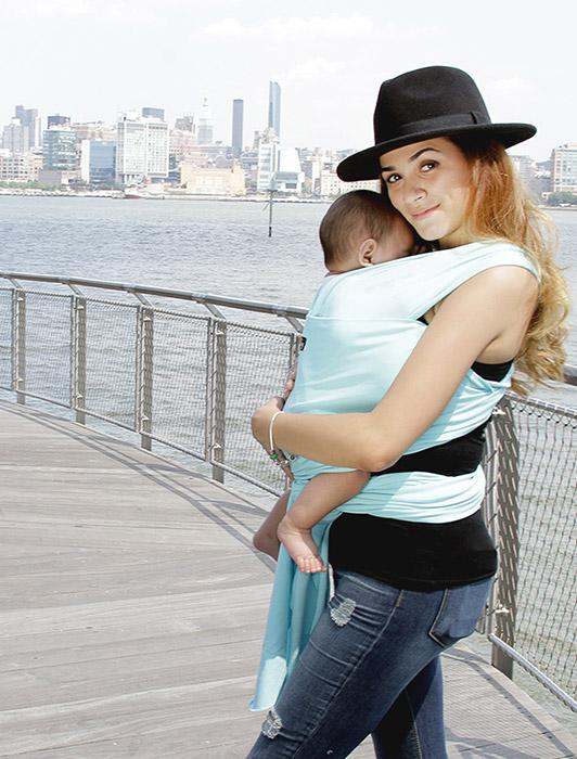 Light Blue Baby Wrap Carrier - Gentle Sky