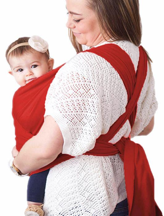 Red Baby Wrap Carrier - Wild Rose