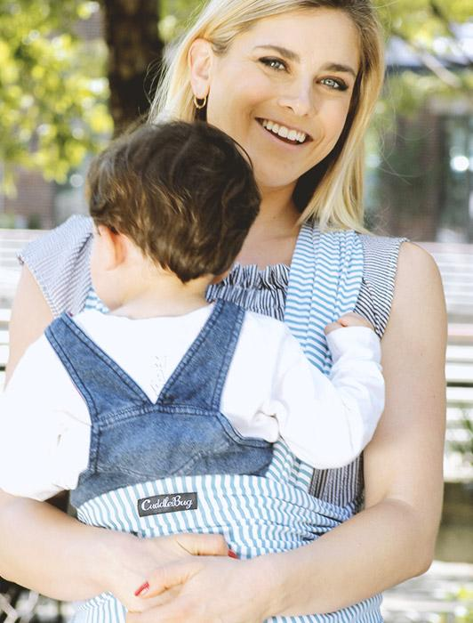 Blue Stripe Baby Wrap