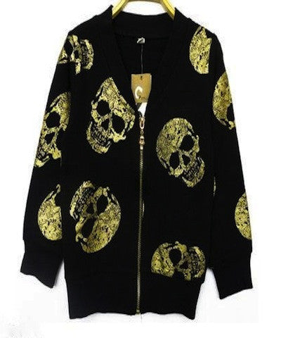 Golden Skull Sweater