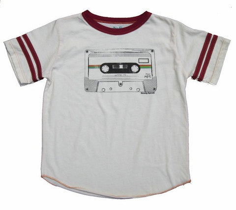 Unplugged Cassette with Red Trim Tee