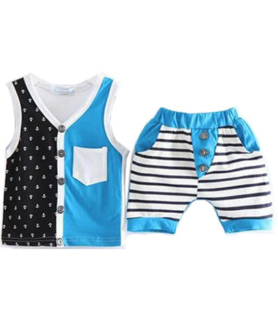 Anchors Away Tank and Shorts Set
