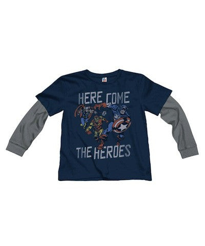 Junk Food Here Come The Heroes L/S Tee