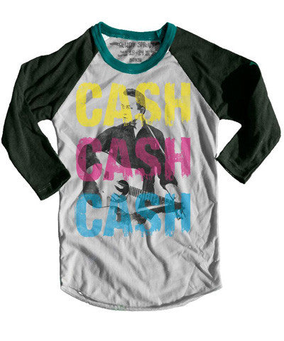 Rowdy Sprout Johnny Cash Raglan Tee