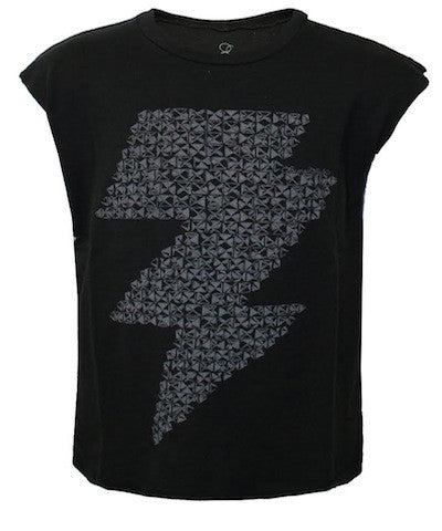 Lauren Moshi Thor Stud Lightening Bolt Muscle Tee