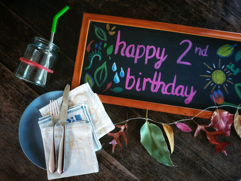 how to throw a sustainable birthday party