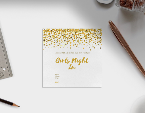 Spa Night Invitation Template