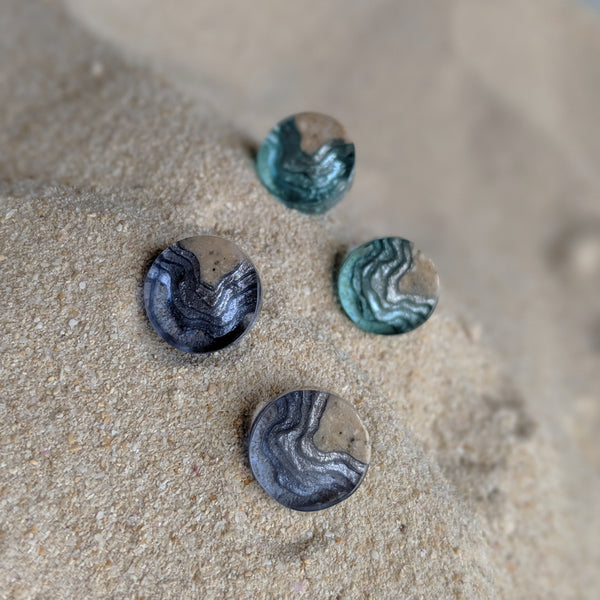 Airllywood - Airllywood, BoldB Shoal Stud Earrings - Ultra Marine, Earrings
