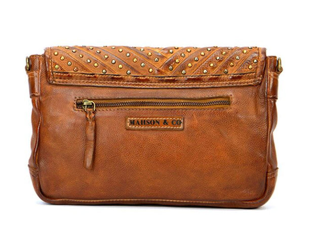 Airllywood - Airllywood, Ribbons & Studs Clutch Bag - Tan, Bags