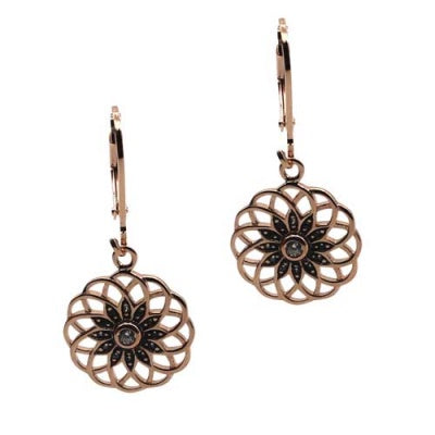 Airllywood - Airllywood, Fabienne Rose Flower Sterling Silver Earrings, Earrings