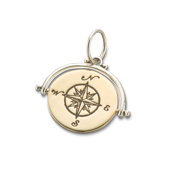 Compass Spinner Charm