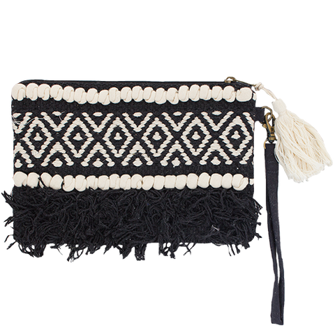 Boho Clutch Bag - Natural