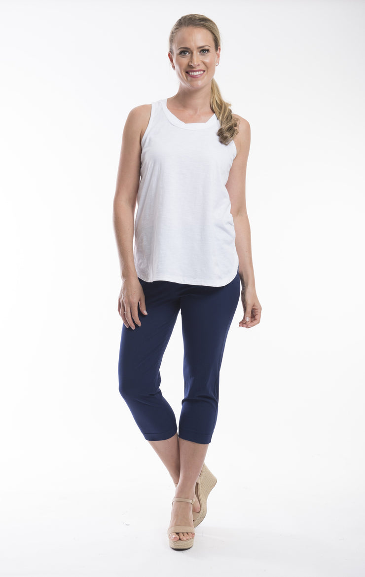 Orientique Navy Capri pants