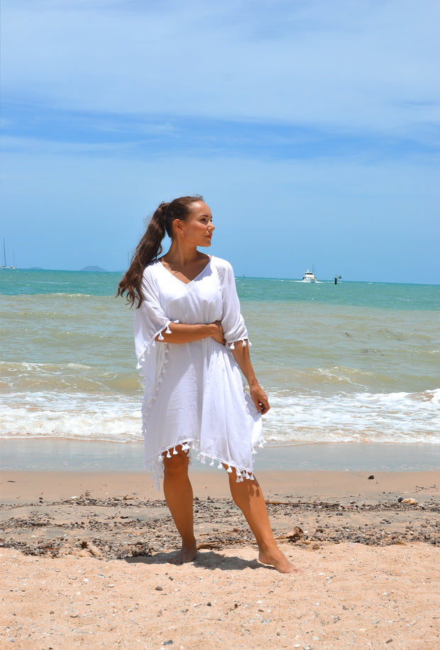 Beach Essentials Kaftan - White