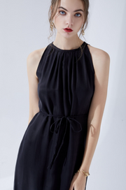 Claudette Cupro Dress - Black